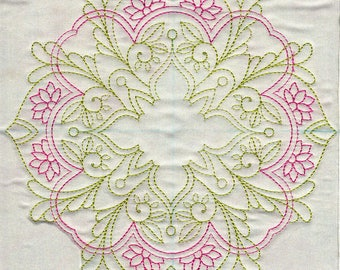 Oh So Floral Quilt-in-the-Hoop Machine Embroidery Designs