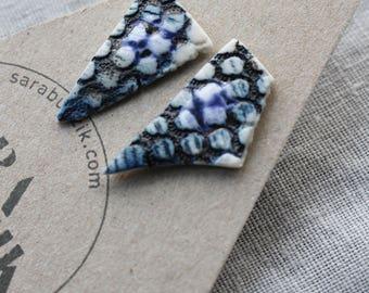 Triangular Porcelain Studs