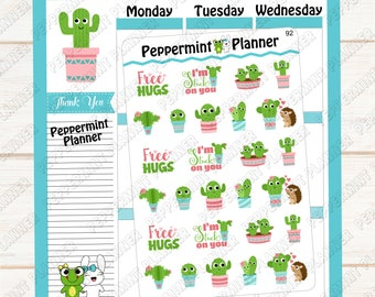 Cactus Stickers --- Planner Stickers  ---  92