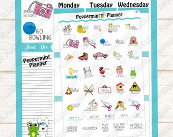 Spring Bucket List --- Planner Stickers --- Spring Time --- Bullet Journal --- Travelers Notebook --- Personal Planner --- 133