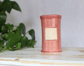 Pink Pottery Vase/Flower Pink Pottery Vase/Stoneware Pink Vase/Flower Vase/Pottery Home Decor/Handmade Pottery Vase