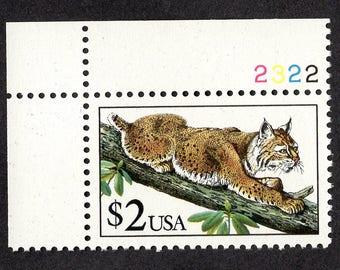 1990 Bobcat Postage Stamp Unused