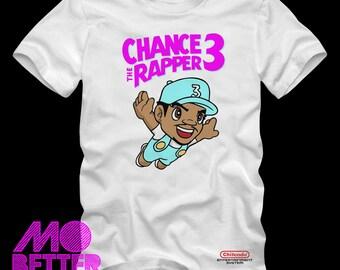 Custom Printed Super Chance the Rapper 3 white T-Shirt