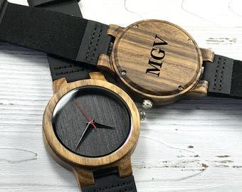 Groomsmen gift, Wood Watch,Fathers Day Gift, Boyfriend Gift, Men watch, Husband Gift, Anniversary Gift, Wooden watch, engraved wooden watch