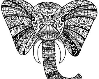 Elephant: Doodle Art