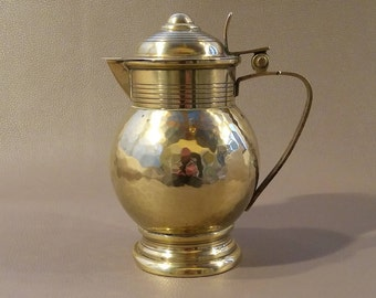 Carl Deffner, Deffner, Art Deco Brass, Lidded jug, Brass Tankard, Pure Brass, Brass Ornament, Brass Container, Ornament, Esslingen
