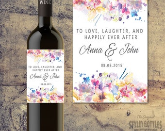 WEDDING SHOWER WINE Label- Personalized Wine Label - Custom Wine Label - Bridal Shower Wine Centerpiece - Bridal Shower Table Decor