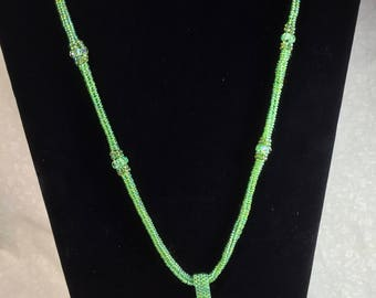 "24"" Beaded Necklace with Pendant"