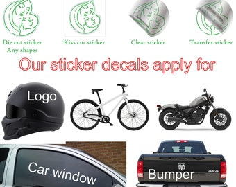 custom window stickers, custom car window stickers, car window decal custom