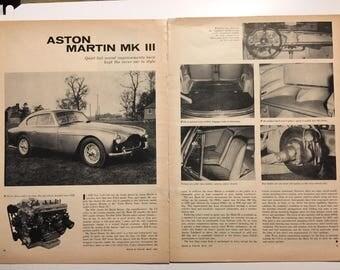 1957 Aston Martin DB 2.4 Mk III in Road and Track magazine