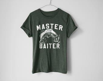Master Baiter Shirt | Fishing Shirt | Funny Shirt | Fish Shirt | Son Shirt | Boat Shirt | Dad Shirt | Camping Shirt | Father Shirt | Fishing