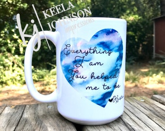 Appreciation Mug - Thankful Gift - Thankful Mug - Gift for Mom - Mug for Mom - Coffee Mug for Mother - Present for Mom - Watercolor Mug