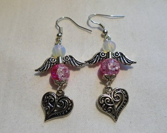 Angel & Heart Earrings