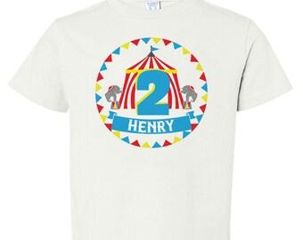 Personalized Circus Birthday Shirt Iron On Transfer, Circus Birthday Party, First Birthday Shirt, Circus Party Theme