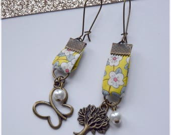 Spring style Ffion liberty yellow mismatched earrings