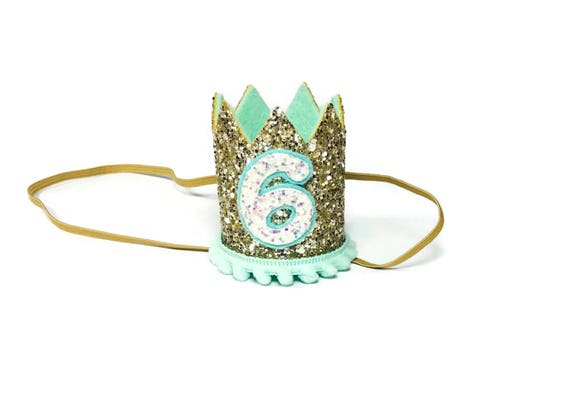 6th Birthday Crown || Any Age || Dog Birthday Hat || Pet Party || Birthday Crown