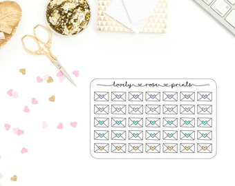 Happy Mail Handrawn Functional Planner Stickers
