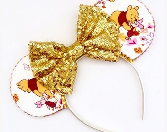 The Best of Friends - Handmade Winnie the Pooh & Piglet Inspired Mouse Ears Headband