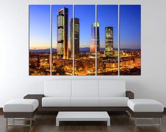Madrid Spain Madrid Canvas Madrid Art Madrid Wall Art Madrid print Madrid Photo Madrid Poster Madrid Wall Decor Spain Poster Spain Photo
