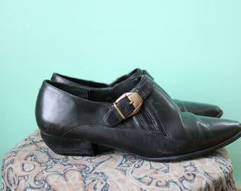 80s Black Women's Booties Size 8