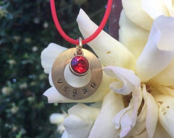 VEGAN Necklace, Red, Animal Rights Jewelry