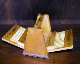 Wooden cigarette case, Vintage cigarette case, Cigarette holder, Handmade cigarette storage, Smoking accessory, Smokers gift