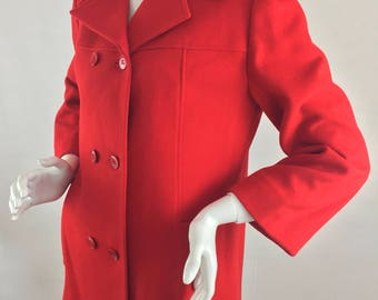 Vintage Knockabouts by Pendleton 100% Virgin Wool Red Pea Coat /Size 12 Large