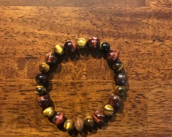 Tigers Eye, Red Tigers Eye Bracelet