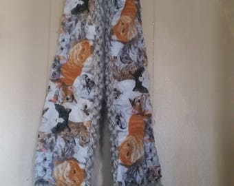 Kitty fabric scarf