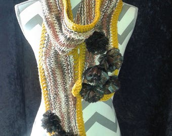 Mixed Yarn Arts Fashon Scarf