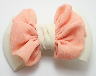 Hair bow clip-girl hair bow-hair bow for girl-girl hair accessories-ivory girl bow-kid hair bow-child hair bow-hair bow for kid-bow clips