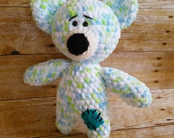 Bear Stuffed Animal | Crochet Bear | Stuffed Animal | Teddy Bear | Amigurumi Bear | Stuffed Bear | Crochet Toy | Handmade Bear-READY TO SHIP