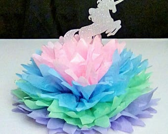 Unicorn Pom | Unicorn Birthday Party | Unicorn Party Decor | Unicorn Centerpiece