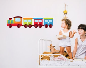 Numbers Train Childrens/Nursery Wall Sticker
