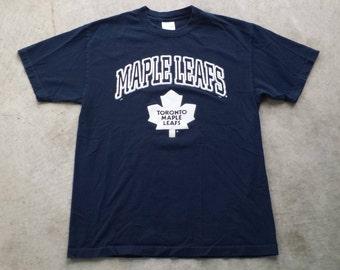 Vintage 1990's Toronto Maple Leafs NHL T Shirt / Tee (L Large) National Hockey League Leafs
