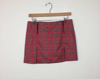Plaid mini skirt | Etsy