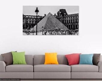 Paris photography,  louvre museum, black and white photography, paris prints, wall art, travel photography