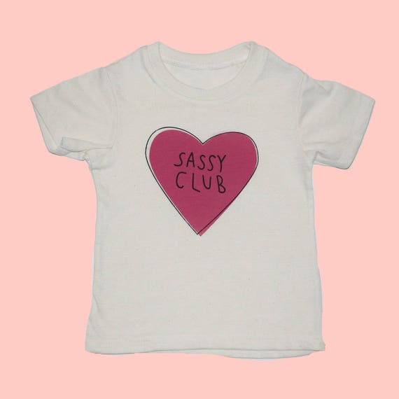 SASSY CLUB - Toddler Tee - White