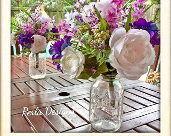 boho purple pink white floral bouquets boho wedding bouquets rustic wildflower bouquets