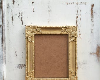 8x10 Picture Frame, Gold, Wedding, Shabby Chic, Baroque, Vintage Style, French Country, Ornate, Photo, Home, Nursery, Wall Decor