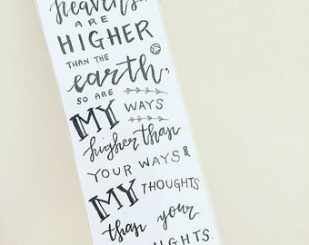 Handmade Bible Verse Bookmark