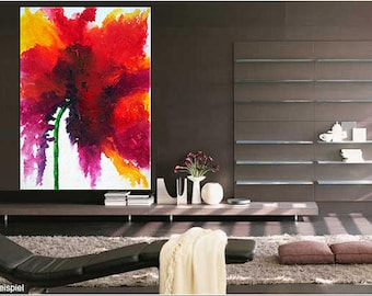 Special price XXL Blossom Flower Original from Gallery art painting
