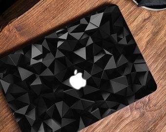 Black Macbook Laptop Decal Macbook Skin 3D poly Macbook Decal Macbook Air Skin Macbook Pro Skin Macbook Pro Decal Macbook Retina Decal Black