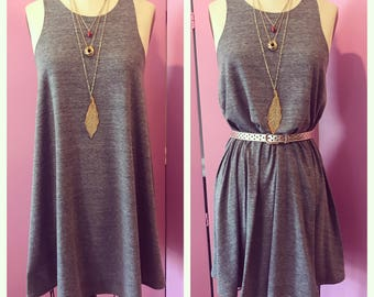 tank dress/flirty tank dress/FAB 208 NYC/a-line tank dress/racerback tank dress/swing dress