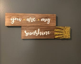 You Are My Sunshine String Art