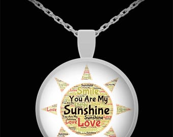 You Are My Sunshine! I Love You Necklace Jewelry Gift Daughter Sweetheart Wife Anniversary Valentine Present