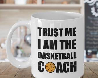 Basketball Coach Mug, Basketball Coach Gift, Personalized Coach Gift, Coffee Mug for Coach, Basketball Dad Gift, Basketball Coach Gift Ideas