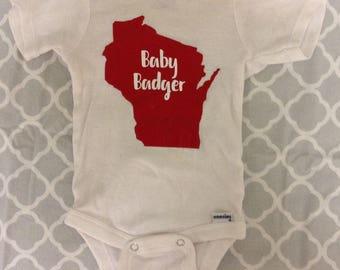 Badger Baby onesie