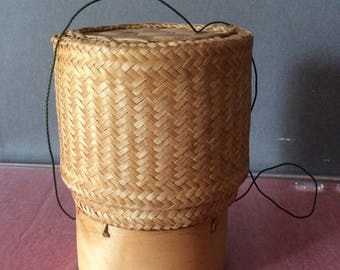 Handmade Vintage Basket with Cover