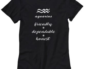 Aquarius shirt, Women's tee Aquarius zodiac sign, Astrology t shirt, Aquarius zodiac gift